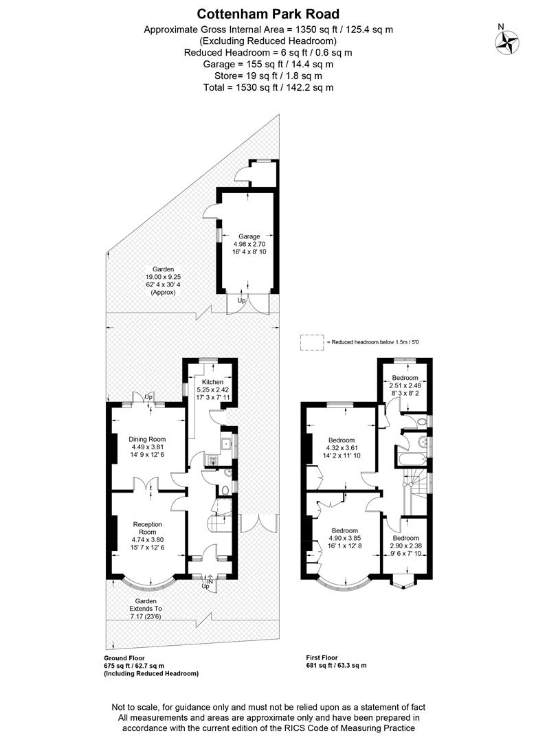 Floorplan for Cottenham Park Road, London